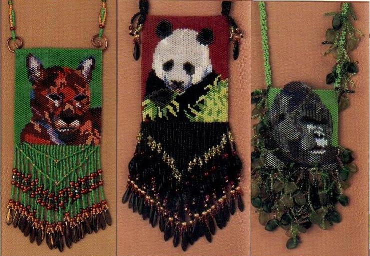 сумочки из бисера для телефона. сумочки из бисера с животными.