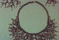 Комплект колье и серьги из бисера и стекляруса