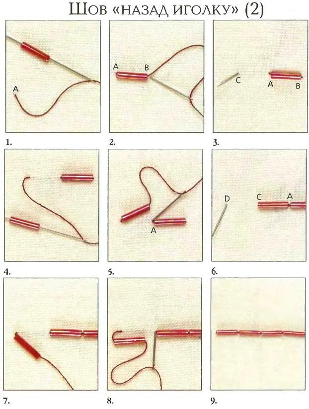 Схемы вышивок назад иголкой