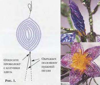 схема фантазийных цветов