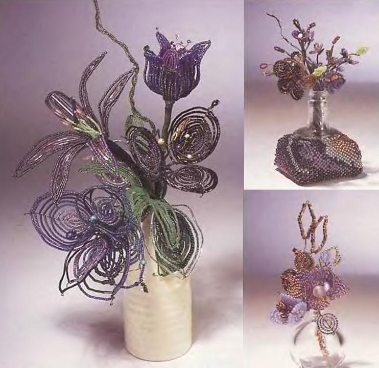 Плетение необычных цветов.  1. Сделайте лепестки на нового бисера и с необычным сочетанием цветов.