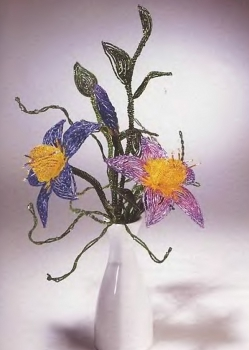 фантазийные цветы из бисера. красивые фантазийные цветы из бисера.