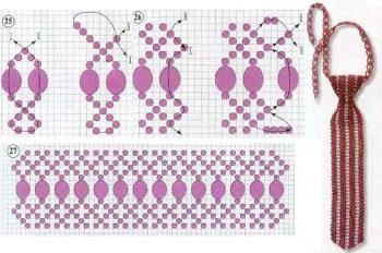 плетение галстука из бисера