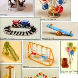 разнообразные игрушки из бисера