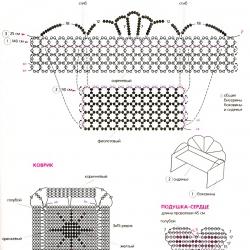 схема сувенира из бисера