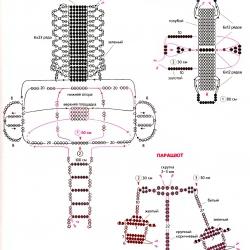 сувениры из бисера. схема плетения игрушки из бисера.