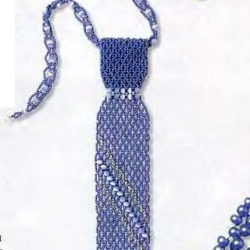галстук из синего бисера