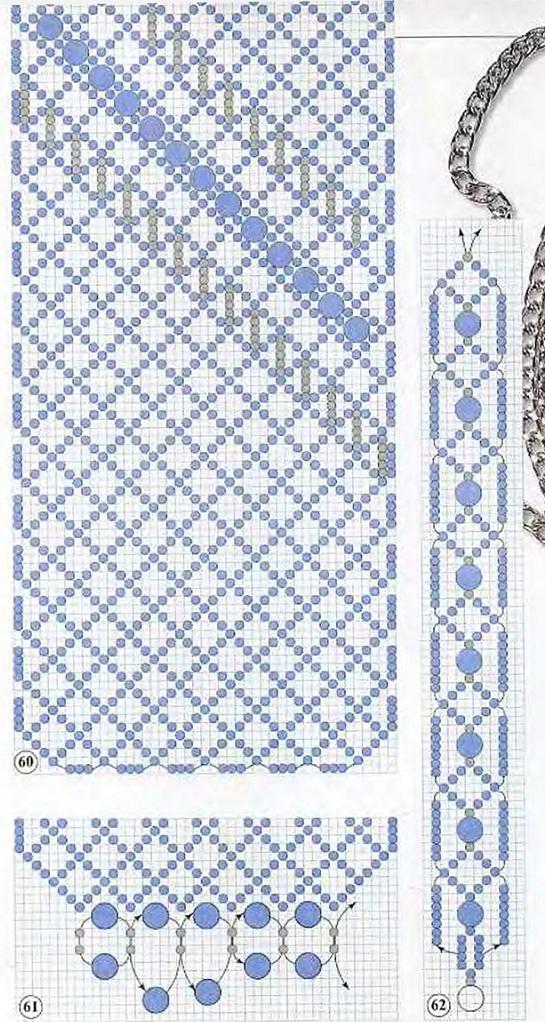 голубая сумочка из бисера