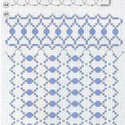 плетение сумочки из синего бисера