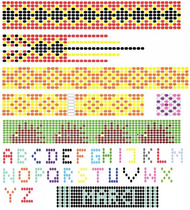 схемы для плетения фенечек из бисера на станке.