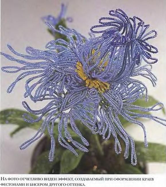 цветок ириса из бисера. цветок японского ириса из бисера.