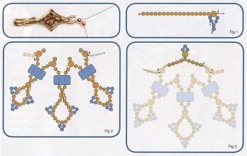 схема плетения ожерелья с топазами