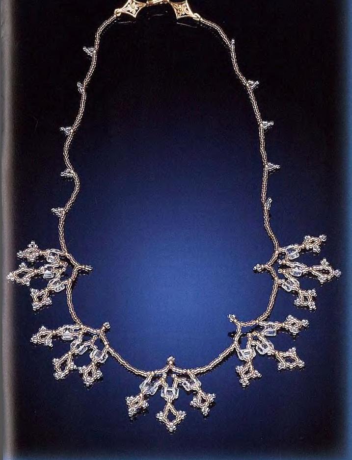 ожерелье топаз из бисера и камней