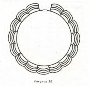 схема плетения ожерелья из бисера