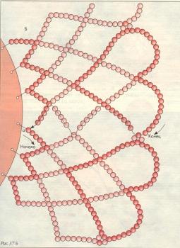 плетение салфетки с сердечками