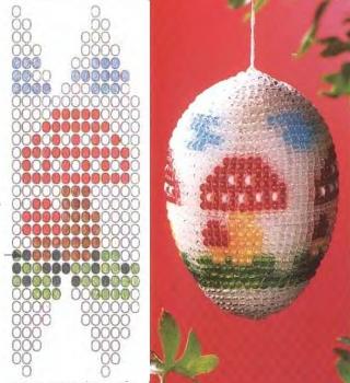 плетение яиц из бисера