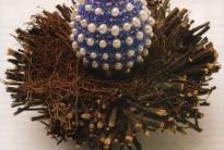 пасхальное яйцо в жемчуге