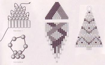 схема сережек из бисера и стекляруса