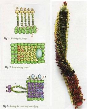 схема браслета с цветущей травой
