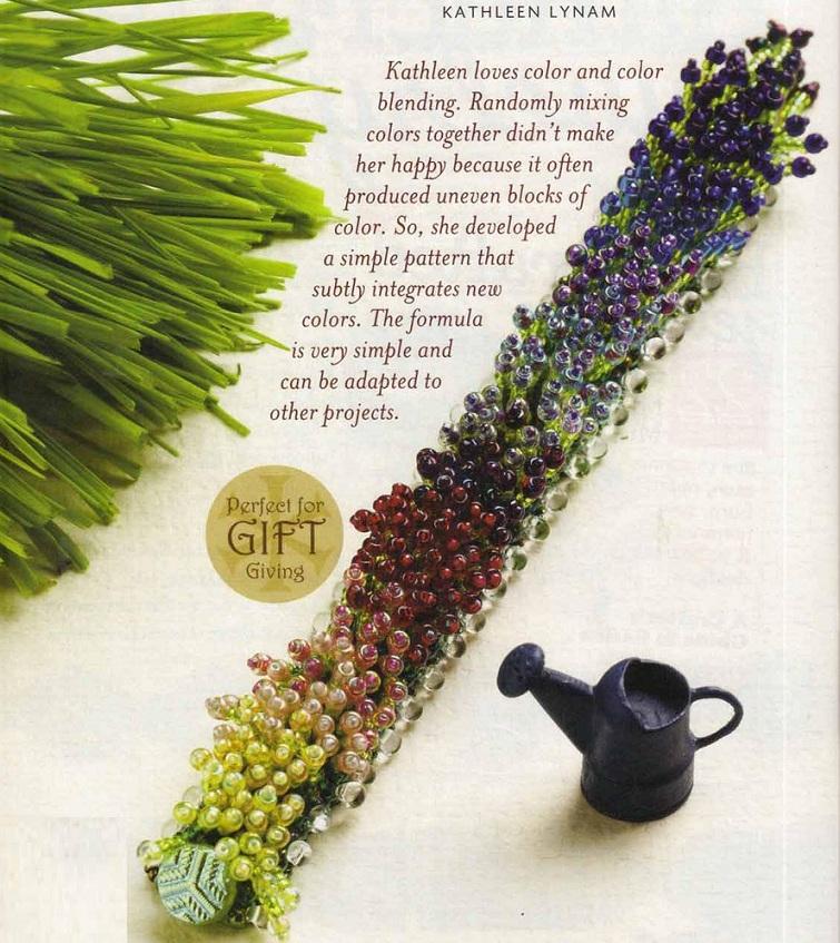"""Красивый и необычный браслет из бисера  """"Цветущая поляна """".  Сплетенный из разноцветного бисера и бусин."""