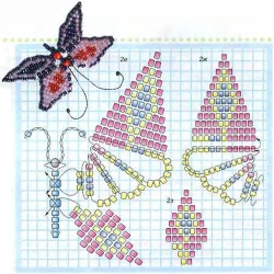 учимся плести бабочку из бисера