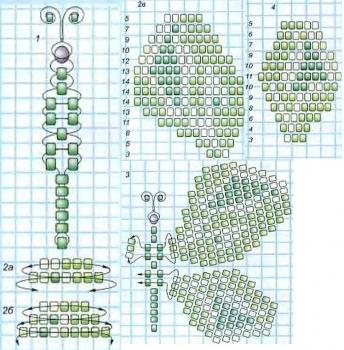 схема для плетения бабочки из бисера