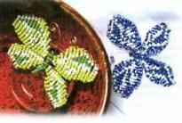 Разноцветные бабочки из бисера