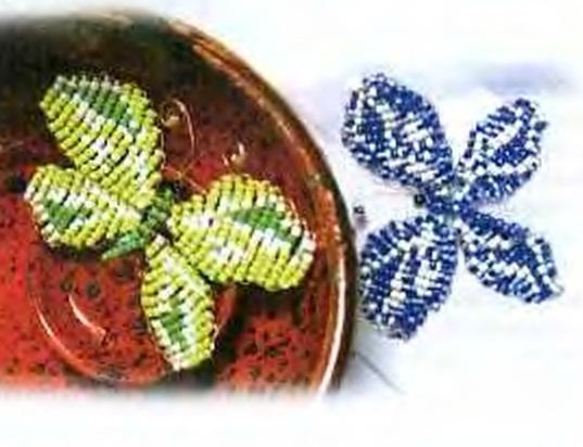 """Ажурный цветок из бисера, схемы плетения бисером цветы  """" ВЯЗАНИЕ."""