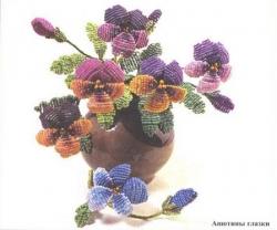 букет цветов анютины глазки