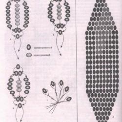 схема плетения гиацинта
