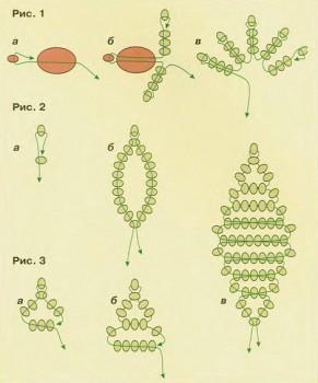 схема плетения земляники