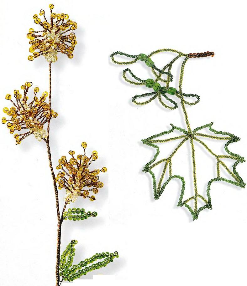 Плетение деревьев ивы из бисера схемы плетения