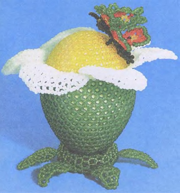 яйцо дует оплетенное бисером