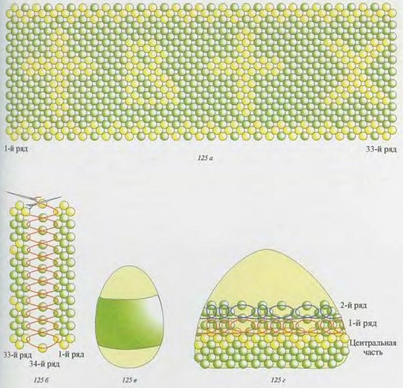 схема опелетния яйца бисером