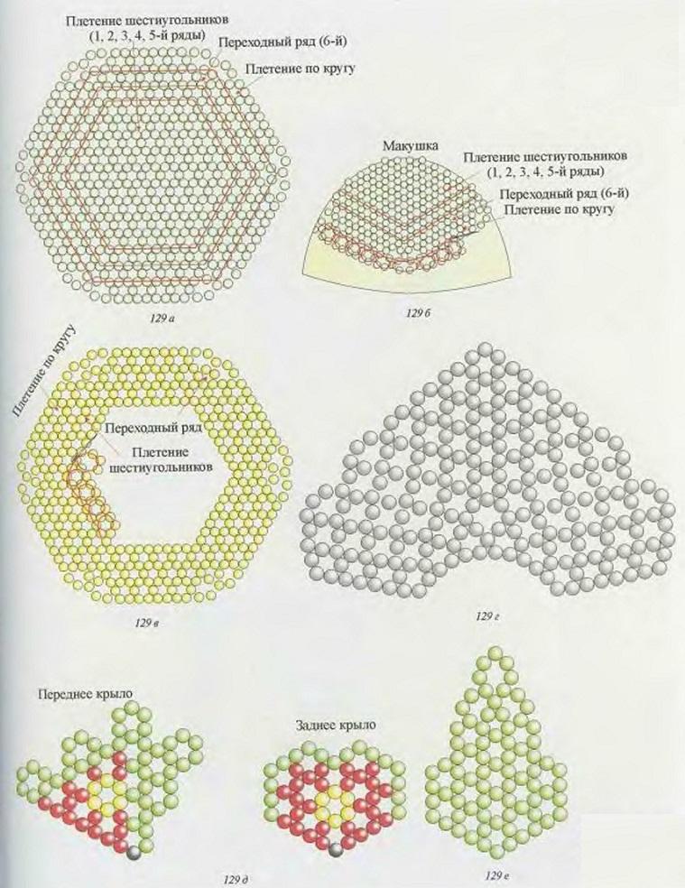 зеленый бисер. схема яйца