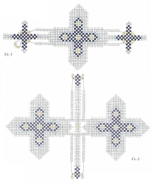 схема яйца с крестом