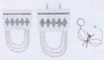 схема серебренного украшения из бисера