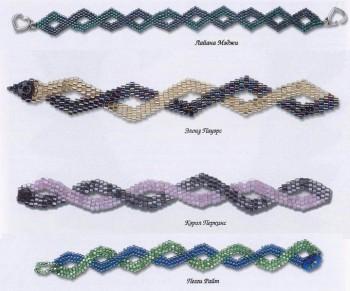 браслеты с волнистыми линиями