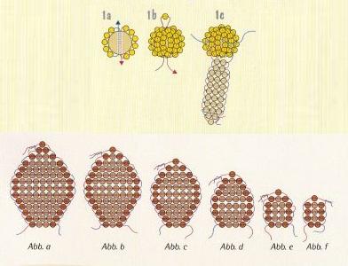 схема красной лилии из бисера