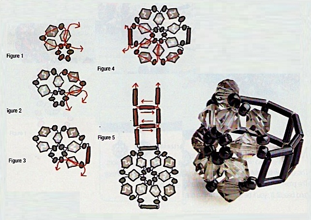 Кольца из бисера схемы мастер класс