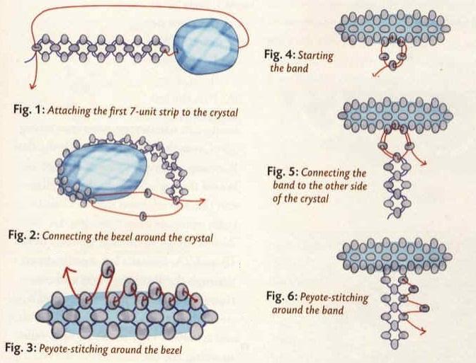перстень сплетен из бисера. схема плетения перстня.