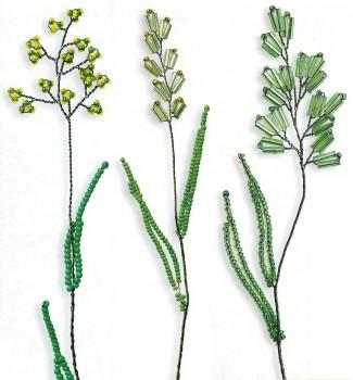 трава из бисера