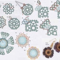 объемное сердечко из бисера схема плетения