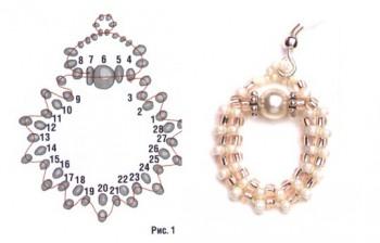 схема плетения серег петель
