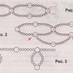 Легкие схемы плетения ожерелья