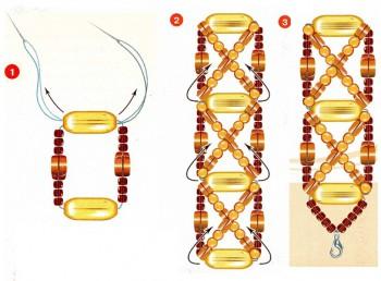 браслеты из бисера и камней