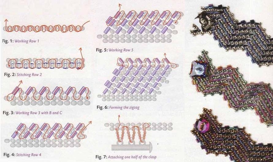 Браслеты из бисера схемы плетения для детей Красочный бисер.