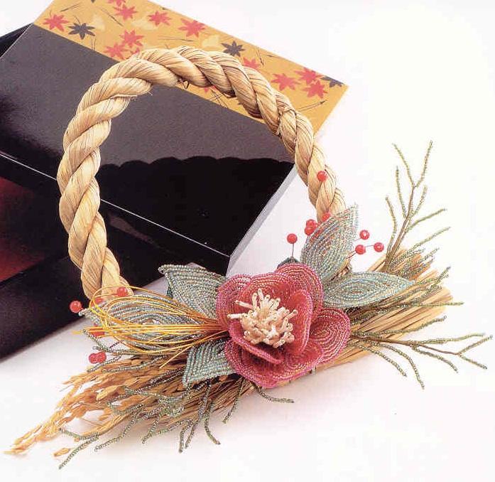 цветок из красного бисера