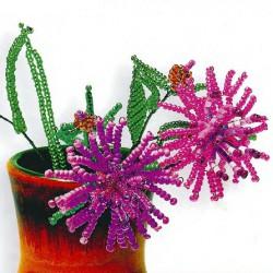 самодельные цветы - васильки