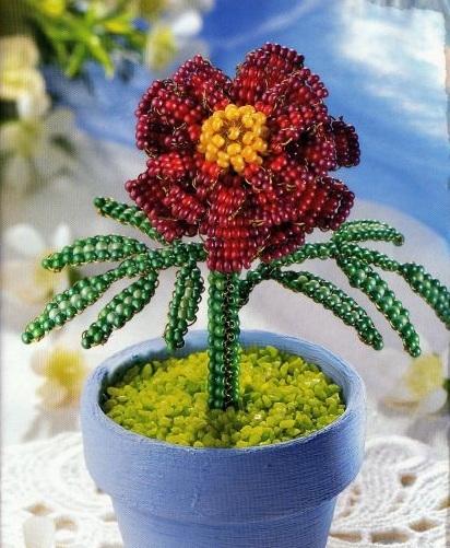 цветок из бисера мк - О том, как плести бисером.